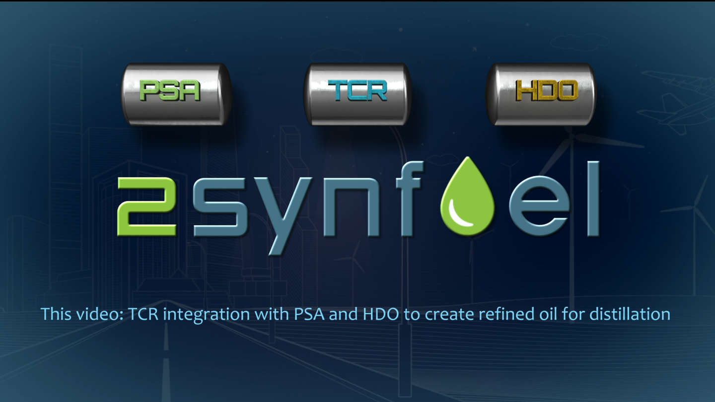 New informational video: TCR® integration with PSA and HDO to create refined bio-oil for distillation